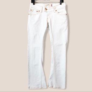 Levi's 504 Slouch Flare White Denim Jeans Sz 5M